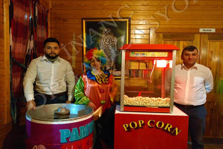 Popcorn Pamuk şekeri arabası kiralama istanbul